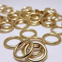 Kółko metalowe 11mm/10, 100 lub1000szt złote 1583
