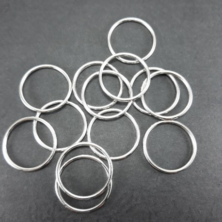 Kółko metalowe 18mm/1000szt srebro 2127 - 14423