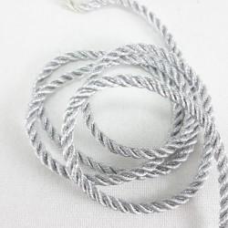 Sznurek ozdobny srebrny 3mm/27m 3064
