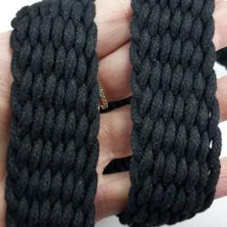 Taśma pleciona bawełniana 30mm/1m czerń 3087