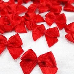 Kokardka ozdobna czerwień 10 lub 100szt 3088