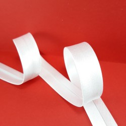 Lamówka atłasowa biała 1m lub 20m zaprasowana 1211