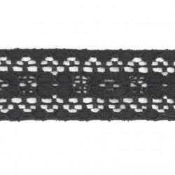 Koronka 34mm czerń 1 lub 10 m 3191