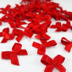Kokardka ozdobna 10 lub 100szt czerwień 3234