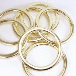 Kółko plastikowe złote 60mm/1szt 3247