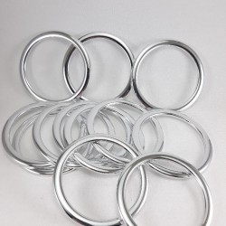 Kółko plastikowe srebrne 60mm/1szt 3248