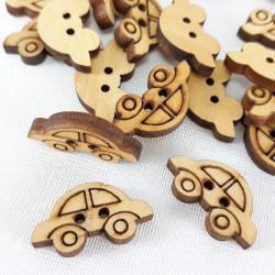 Guzik drewniany 20mm x 11mm/10szt 3290