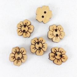 Guzik drewniany 14mm x 15mm/10szt 3291