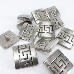 Guzik metalizowany 18x18/10szt 673