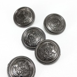 Guziki metalowe 15mm/1szt 3370