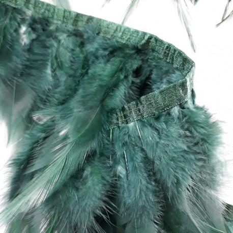Pióra na taśmie - zieleń 13cm/1mb nr 3430 - 17860