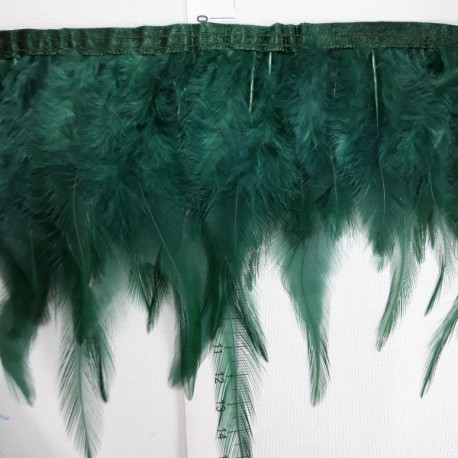 Pióra na taśmie - zieleń 13cm/1mb nr 3430 - 17862