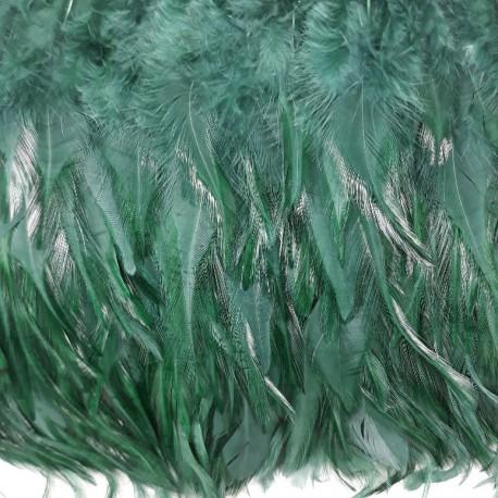 Pióra na taśmie - zieleń 13cm/1mb nr 3430 - 17863