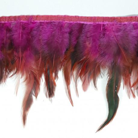 Pióra na taśmie amarant - 17950