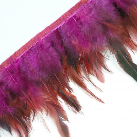 Pióra na taśmie amarant - 17951