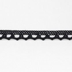 Koronka bawełniana czerń 10mm/ 25 lub1yard 3455