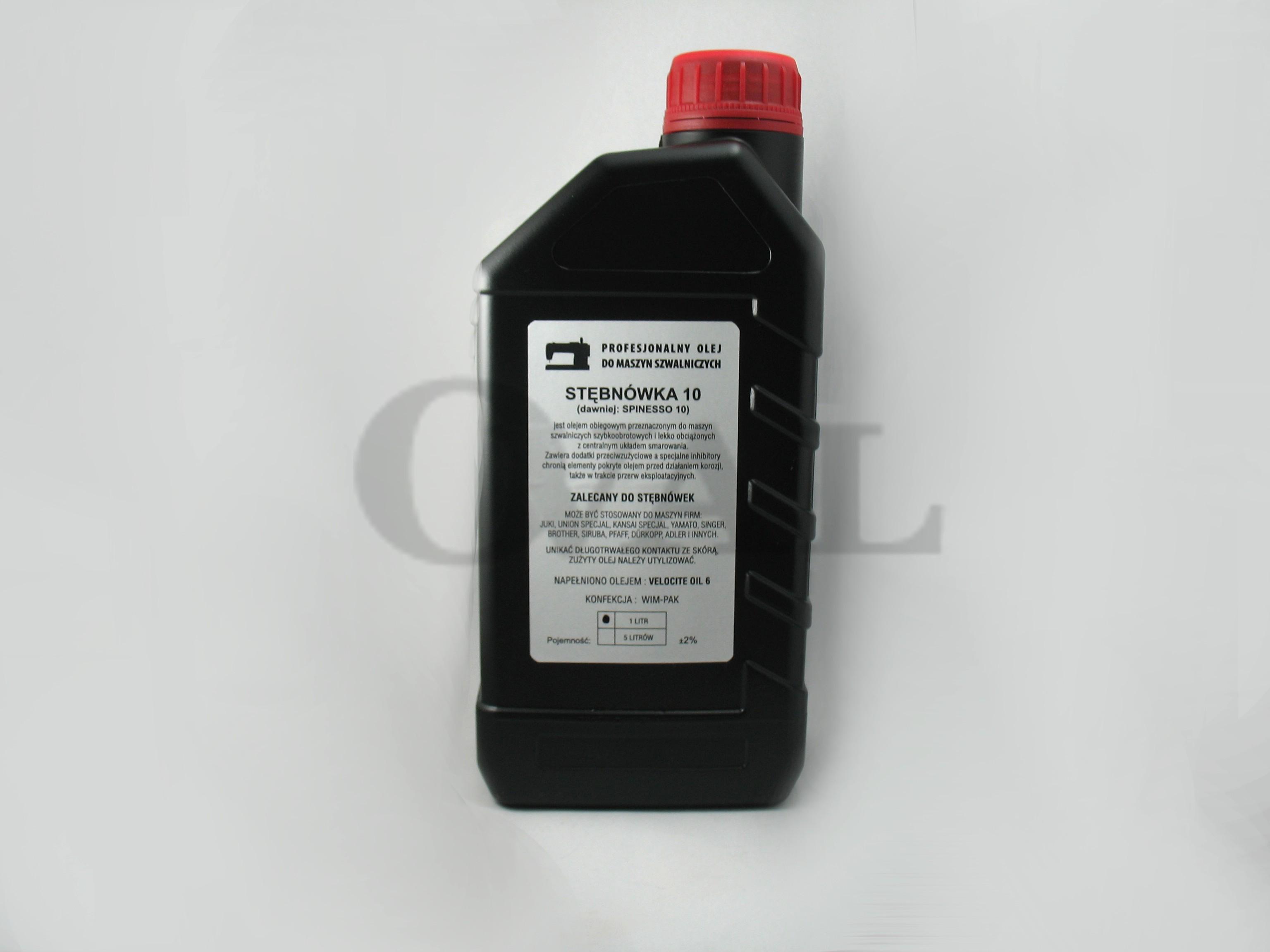 Chwalebne Olej do maszyn szwalniczych STĘBNÓWKA 10 1L nr 1197 - OVAL ED76