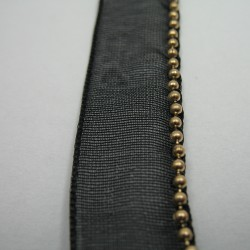 Taśma ozdobna czarna 12mm 1m.b. nr: 1257