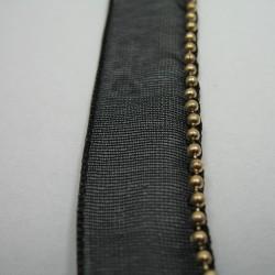 Taśma ozdobna czarna 12mm nr: 1257