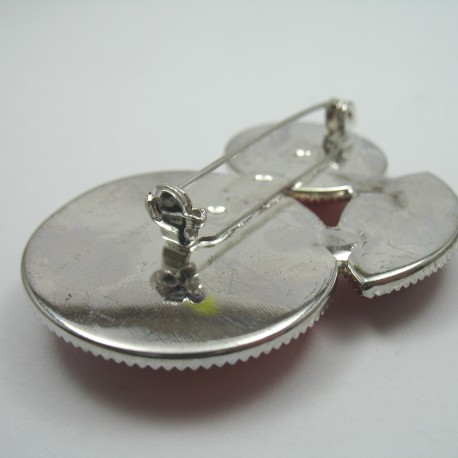 Ozdobna broszka - metalowa nr: 1278