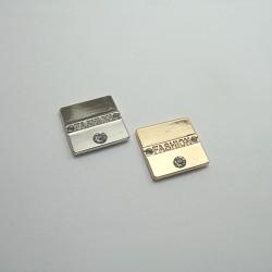 Przywieszka z dżetem metalowa nr 1375