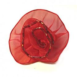 Broszka Róża Szyfonowa ok. 55mm nr: