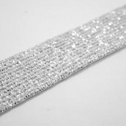 Guma ozdobna jasno srebrna 20 1m.b. nr: 1722