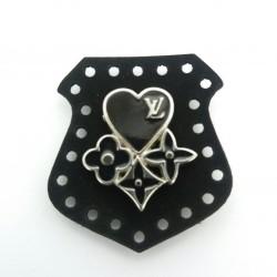 Skórka ekologiczna z metalowym sercem 1778