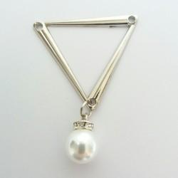 Ozdoba trójkąt z perłą 1782