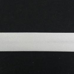 Lamówka atłasowa zaprasowana,biała