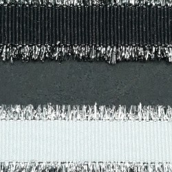 Ozdobna taśma 15mm biała ,czarna nr 2138