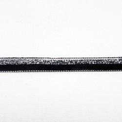 Taśma ozdobna czarno-srebrna 10mm nr 2140