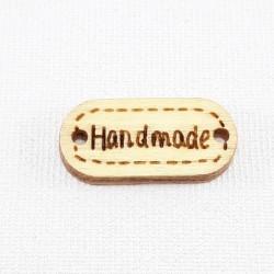 Etykieta/naszywka drewniana HAND MADE ,1959