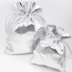 Woreczki prezentowe metaliczne, srebrne nr2147