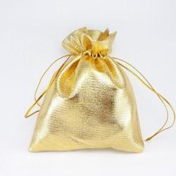 Woreczki prezentowe ,metaliczne złote 2148