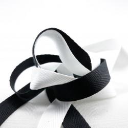 Taśma bawełniana -jodełka biała,czarna 50mb ,różne szerokości nr 2150