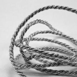Sznurek ozdobny srebrny 3mm,4mm nr 2162
