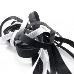 Guma płaska biała i czarna różne szerokości nr 2175