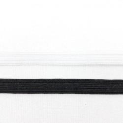 Guma płaska w oplocie 6mm biała i czarna nr 2182