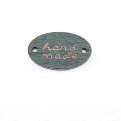 Etykieta/drewniana naszywka 10szt,HAND MADE nr2199
