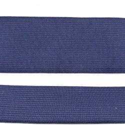 Guma płaska, dziana odzieżowa GRANATOWA 5 m. b. - 50mm