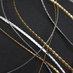 Sznurek metalizowany złoty,srebrny 1,5mm 2316