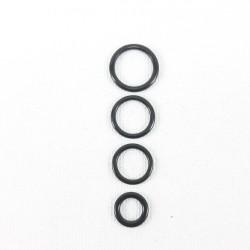 Kółko do ramiączek czarne 10 lub 200szt 6,8,10,12,15,20mm 1121