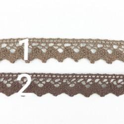 Koronka Bawełniana brązowa 17mm 1m.b. nr: 356