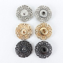 Zatrzaski metalowe 21mm 2315