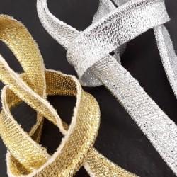 Lamówka ze sznurkiem złoto,srebro 2506