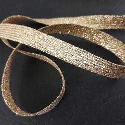 Taśma ozdobna złota 10mm Krążek 25m 2512
