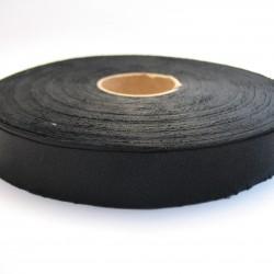 Lamówka atłasowa niezaprasowana Czarna 5 m.b. 20mm