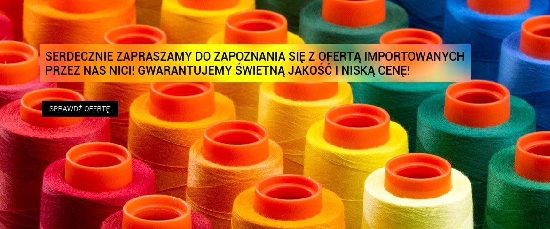 Nowy dostawa importowanych przez nas nici! Zapraszamy!